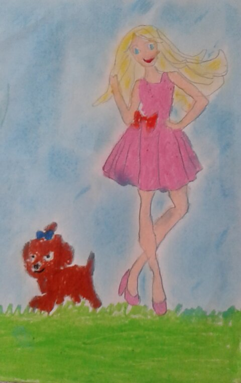 Barbie z pieskiem